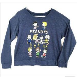 Peanuts Charlie Brown Sweatshirt Juniors Large